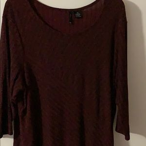 Top Burgundy and Black top
